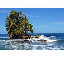 Tropical islet with lush vegetation Photographic Print