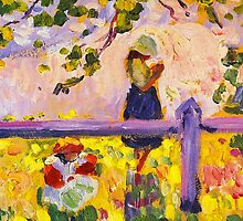 Girls in Garden, painting by Henri Lebasque by greenave