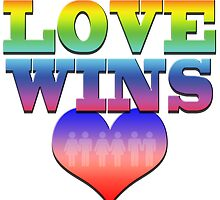 Love Wins! Heart with couples: Marriage Equality by 321Outright