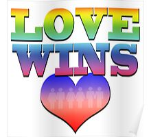 Love Wins! Heart with couples: Marriage Equality Poster
