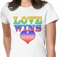 Love Wins! Heart with couples: Marriage Equality Womens Fitted T-Shirt
