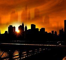 Manhattan Silhouettes by Svetlana Sewell