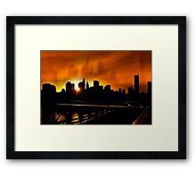 Manhattan Silhouettes Framed Print