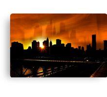 Manhattan Silhouettes Canvas Print