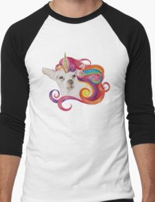 Rainbow Chihuacorn Men's Baseball ¾ T-Shirt