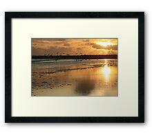 """Sunset - Beadnell Bay - Northumberland Framed Print"