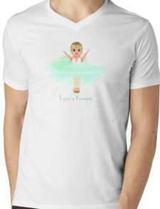 Love a Kewpie - Mint Green Mens V-Neck T-Shirt