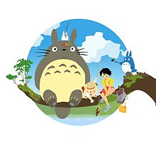 Fishing with my neighbor - My neighbor Totoro by KanzakiShop
