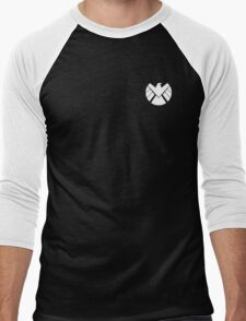 Agents of SHIELD (White) Men's Baseball ¾ T-Shirt