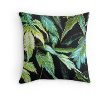 Maple Leaves - After the Rain  Throw Pillow