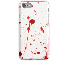 Blood Spatter 11 iPhone Case/Skin