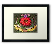 Coloured Crown Framed Print