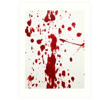 Blood Spatter 12 Art Print