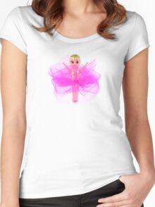 Hot Pink Kewpie Women's Fitted Scoop T-Shirt