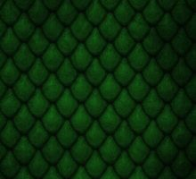 Dragon Scales - Green by Carlo Angelo Tuvilla