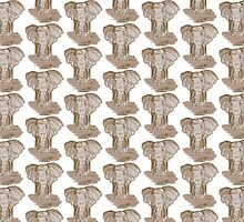 Sepia Elephant Repeated Pattern by easonb