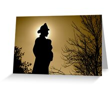 Silhouette of Fireman  Greeting Card