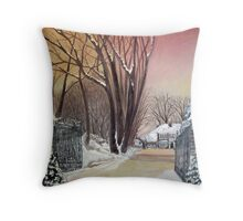 Bigger house Spout Hall Throw Pillow