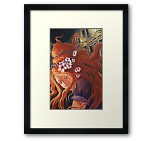 Plum Girl Framed Print