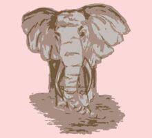 sepia elephant-FULL One Piece - Short Sleeve