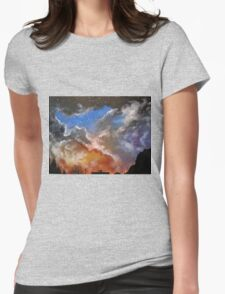 Northern night sky Womens Fitted T-Shirt