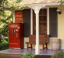 Ice Cold Coca Cola Sold Here, Gruene, Texas by Stephen D. Miller