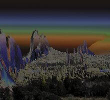 Solarized Garden of the Gods by Carl M. Moore