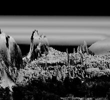 Solarized Garden of the Gods 2 by Carl M. Moore
