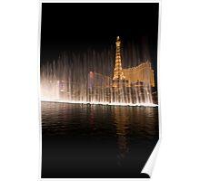 Falling light - Bellagio Water Dancing , Las Vegas Poster