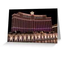 Sprinkler system, Bellagio Casino, Las Vegas Greeting Card