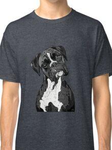 Black and White Boxer Art Classic T-Shirt