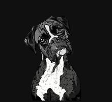 Black and White Boxer Art T-Shirt
