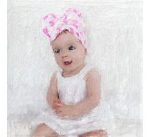 Little Miss With Pink Polka Dots Photographic Print