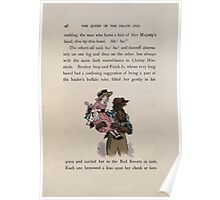 The Queen of Pirate Isle Bret Harte, Edmund Evans, Kate Greenaway 1886 0050 Pirate Carry Poster