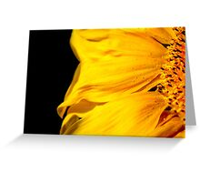 Yellow fire Greeting Card