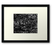 My Desk is a Mess!!!  Framed Print