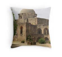 Back of Church at Mission San Jose Throw Pillow