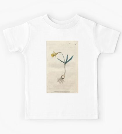 The Botanical magazine, or, Flower garden displayed by William Curtis V1 V2 1787 1789 0017 Narcissus Minor, Least Daffodil Kids Tee