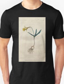 The Botanical magazine, or, Flower garden displayed by William Curtis V1 V2 1787 1789 0017 Narcissus Minor, Least Daffodil Unisex T-Shirt