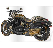 Steampunk Motorcycle Poster