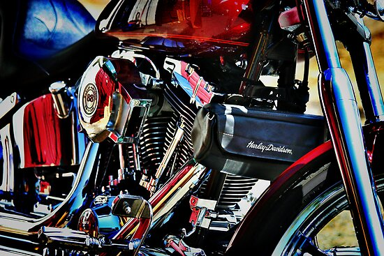 Harley Abstract by Xcarguy