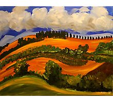 Italian Countryside. Acrylic Painting. Photographic Print