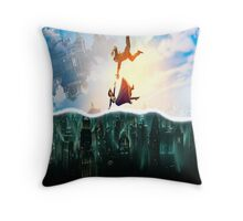Bioshock Two Worlds Collide Throw Pillow