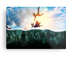 Bioshock Two Worlds Collide Metal Print