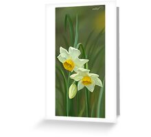 Forest narcissus Greeting Card