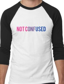 Bisexual NOT CONFUSED  Men's Baseball ¾ T-Shirt