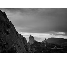Red Rocks in Black and White Photographic Print