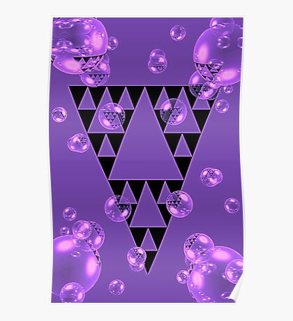 Purple Bubblangle Poster