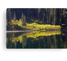 Lower Lindsay Lake Reflections  Canvas Print