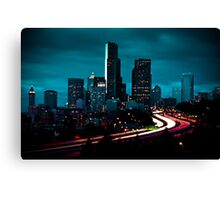 A Storm Approaches - Seattle Skyline Canvas Print